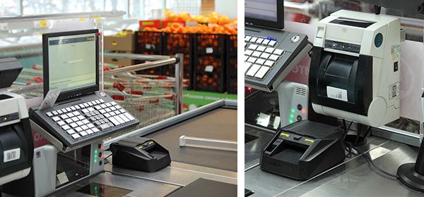 Автоматический детектор на кассе супермаркета