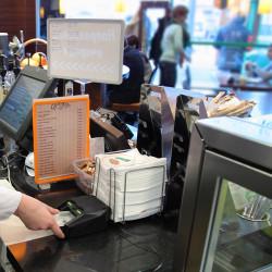 Автоматический детектор Moniron Dec POS в кафе